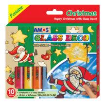 Üvegfesték szett karácsonyi mikulás