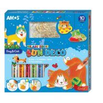Üvegmatrica festék +12 db suncatcher cica,kutya