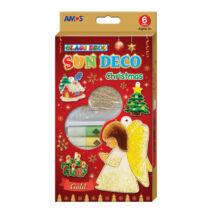Üvegmatricafesték és karácsonyi sablonok (angyalkás, bordó doboz)