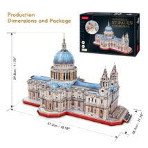 3D puzzle Szent Pál katedrális (643 elem)