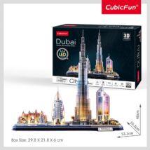 3D puzzle City Line Dubai (LED világítás, 182 elem)