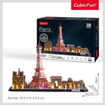3D puzzle City Line Párizs (LED világítás, 115 elem)