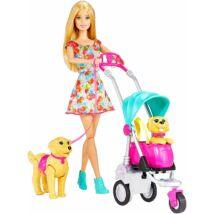 Barbie kutyasétáltató játékszett