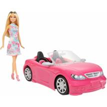Barbie baba autóval