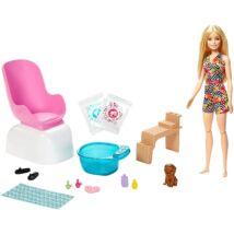 Barbie feltöltődés - Körömstúdió játékszett