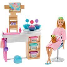 Barbie feltöltődés - Szépségszalon játékszett