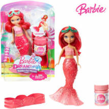 Barbie Dreamtopia buborékfújó mini sellő (piros)