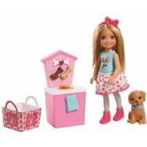 Barbie Chelsea kutyusos játékszett