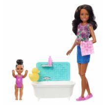 Barbie bébiszitter játékszett (F)