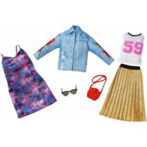 Barbie ruha szettek (2-es csomag, FKT38)