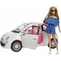 Barbie Fiat 500 autóval