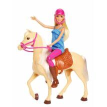 Barbie lovas szett babával
