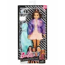 Barbie Fashionista baba ruhával (barna hajú)