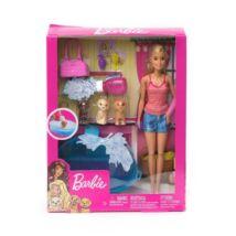 Barbie kutyus fürdetős játékszett