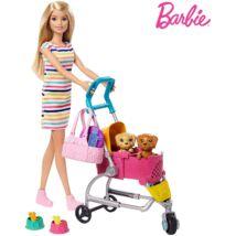 Barbie kölyök kutyus sétáltató játékszett