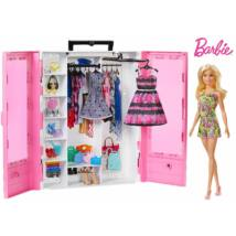Barbie Fashionista ruhásszekrény babával