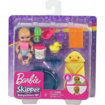 Barbie bébiszitter kisbaba kiegészítőkkel (GHV84)
