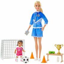 Barbie fociedző játékszett
