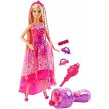 Barbie varázslatos hajfonat baba
