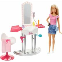 Barbie szoba babával (fodrász szalon)