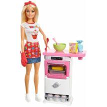 Barbie cukrász játékszett