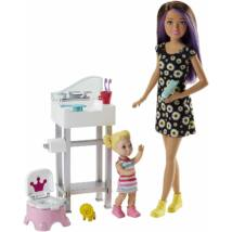 Barbie bébiszitter játékszett (4)