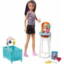Barbie bébiszitter játékszett (1)