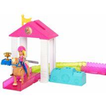 Barbie On The Go baba pónival és kis kiegészítővel