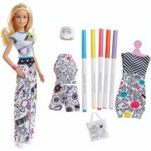 Barbie Crayola színezős baba ruhákkal