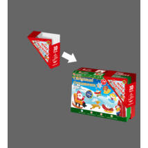3D puzzle karácsonyfadíszek szett (zöld és piros doboz)