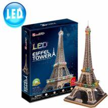 3D puzzle Eiffel Torony LED világítással (85 db-os)
