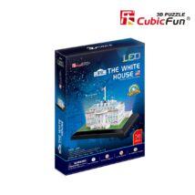 Fehér Ház LED világítással (56 db-os)
