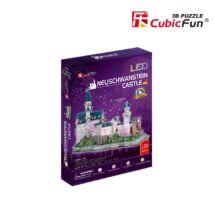 3D puzzle Neuschwansteini kastély LED világítással (128 elem)