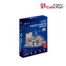 3D puzzle Notre Dame LED világítással (149 db-os)