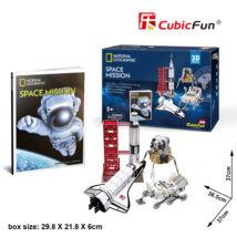 3D puzzle Space Mission Nat. Geo. Fotóalbummal (80 elem)