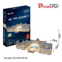 3D puzzle Louvre LED világítással (137 db-os)