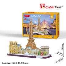 3D puzzle City Line Párizs (114 elem)