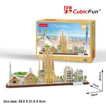 3D puzzle City Line Barcelona (186 db-os)