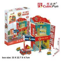 3D puzzle tűzoltó állomás (89 elem)