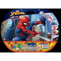 Giga színező Pókember (ceruza, zsírkréta, vízfesték, matrica)