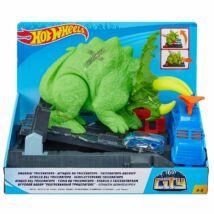 Hot Wheels City Triceratops zúzó pályaszett