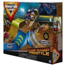 Monster Jam Játékszett-Champ Ramp Freestyle