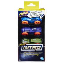 NERF Nitro - Kisautó utántöltő (3 db, terep-sárga-piros)