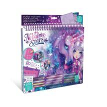 !Fantasy lovak kreatív vázlatfüzet (lila)