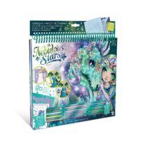 Fantasy lovak kreatív vázlatfüzet (zöld)