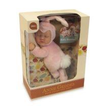 Anne Geddes babák - Rózsaszín nyuszi (23 cm)