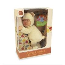 Anne Geddes babák - Krémfehér maci 23 cm-es