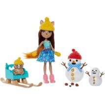 Enchantimals - Sharlotte Squirrel és Walnut hóemberekkel (GNP16)