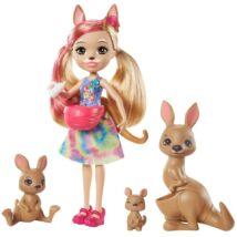 Enchantimals - Sunny Savanna Kamilla Kangaroo és családja