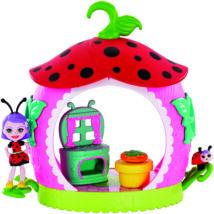Enchantimals Petal Park házikói játékszett (Ladelia Ladybug)